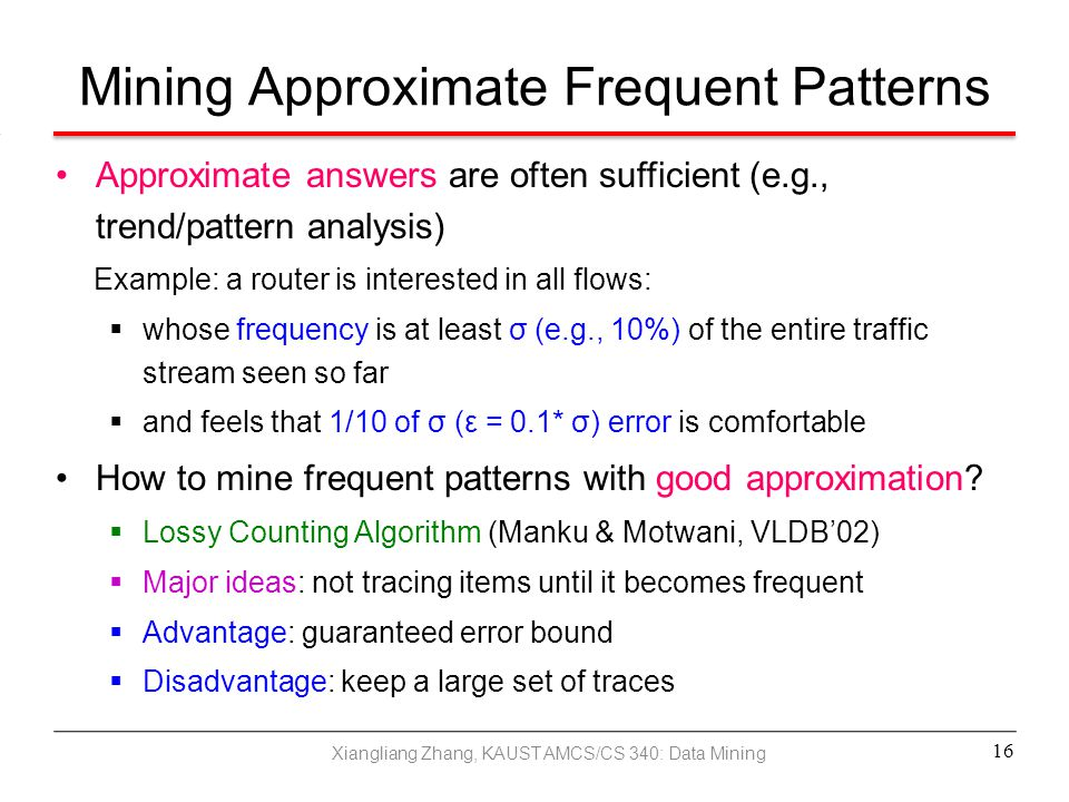 Mining Approximate Frequent Patterns