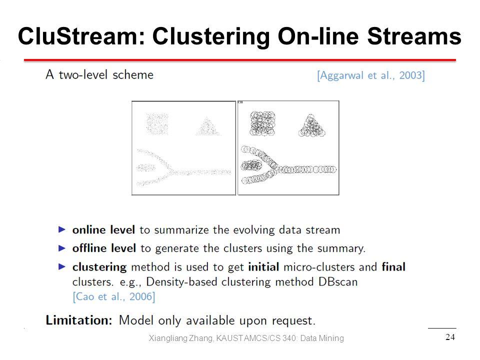 CluStream: Clustering On-line Streams
