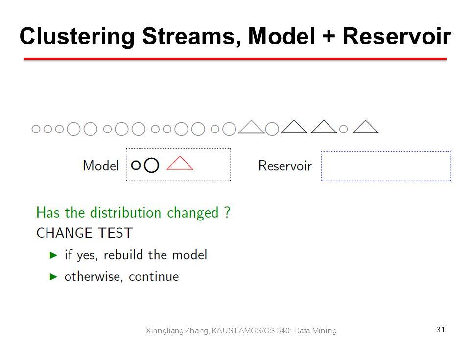 Clustering Streams, Model + Reservoir