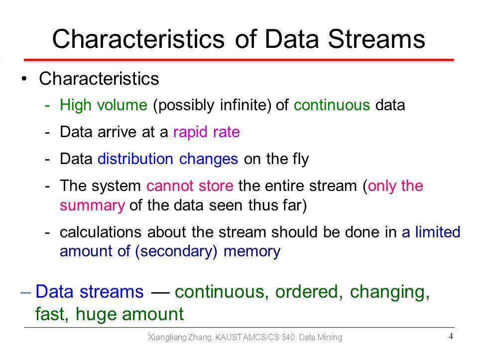 Characteristics of Data Streams