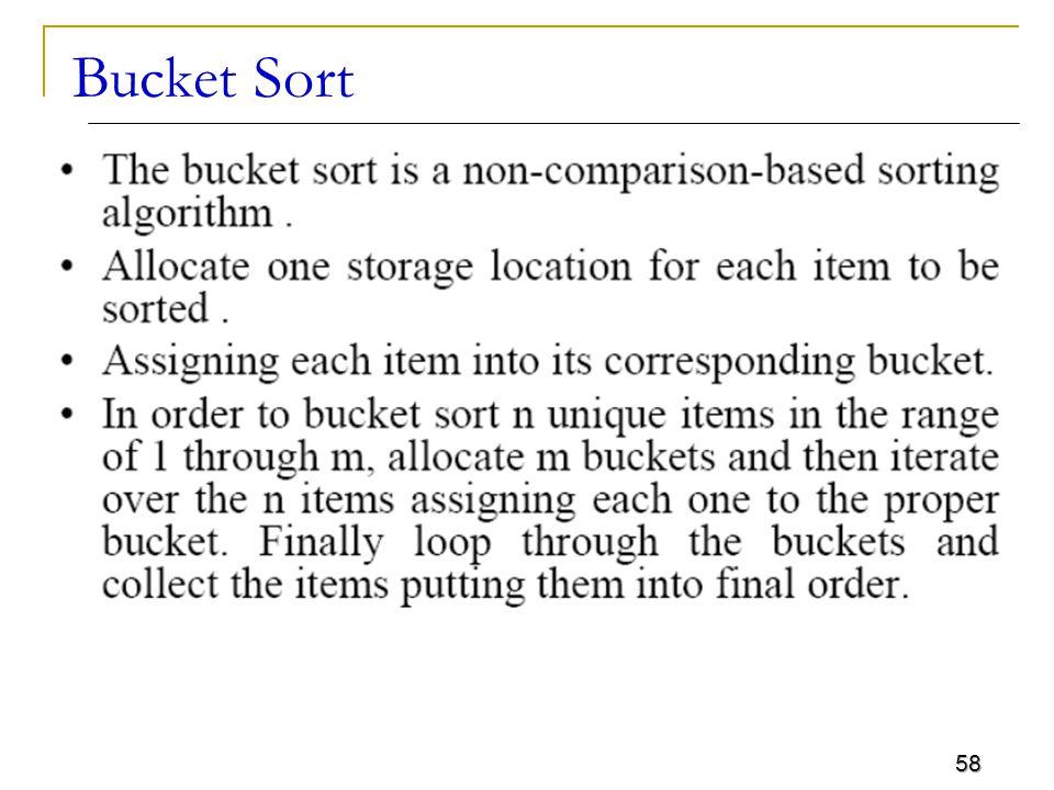 Bucket Sort