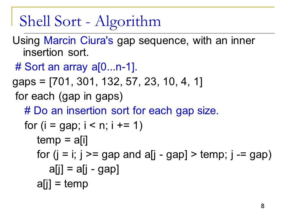 Shell Sort - Algorithm