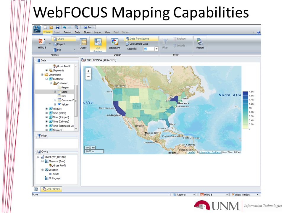 WebFOCUS Mapping Capabilities