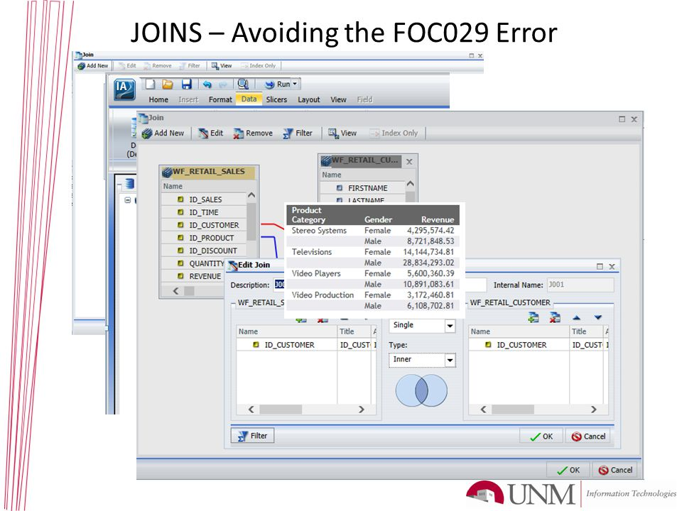 JOINS – Avoiding the FOC029 Error