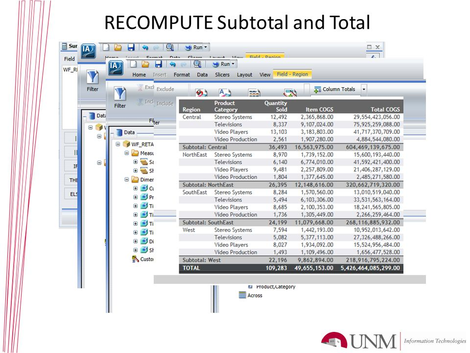 RECOMPUTE Subtotal and Total