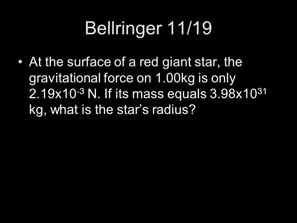 Bellringer 11/19