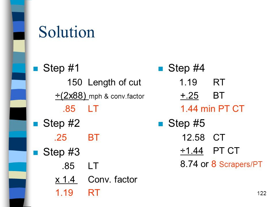 Solution Step #1 Step #2 Step #3 Step #4 Step #5 150 Length of cut