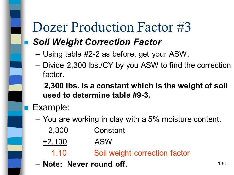 Dozer Production Factor #3