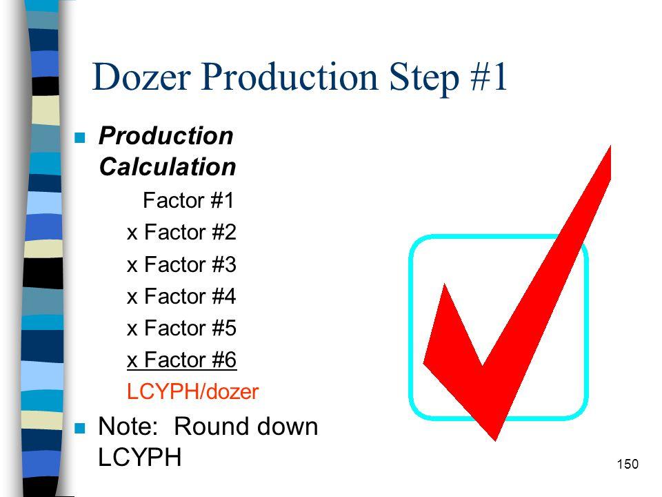 Dozer Production Step #1