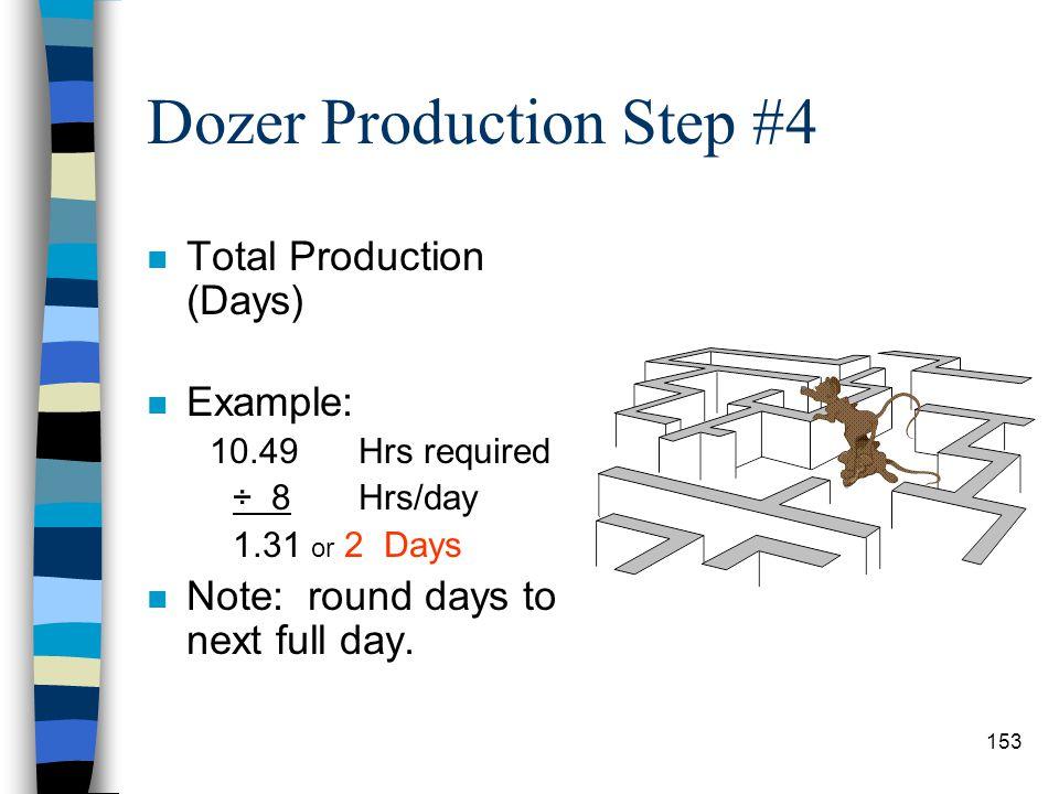 Dozer Production Step #4