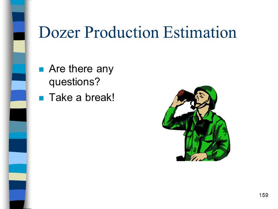 Dozer Production Estimation