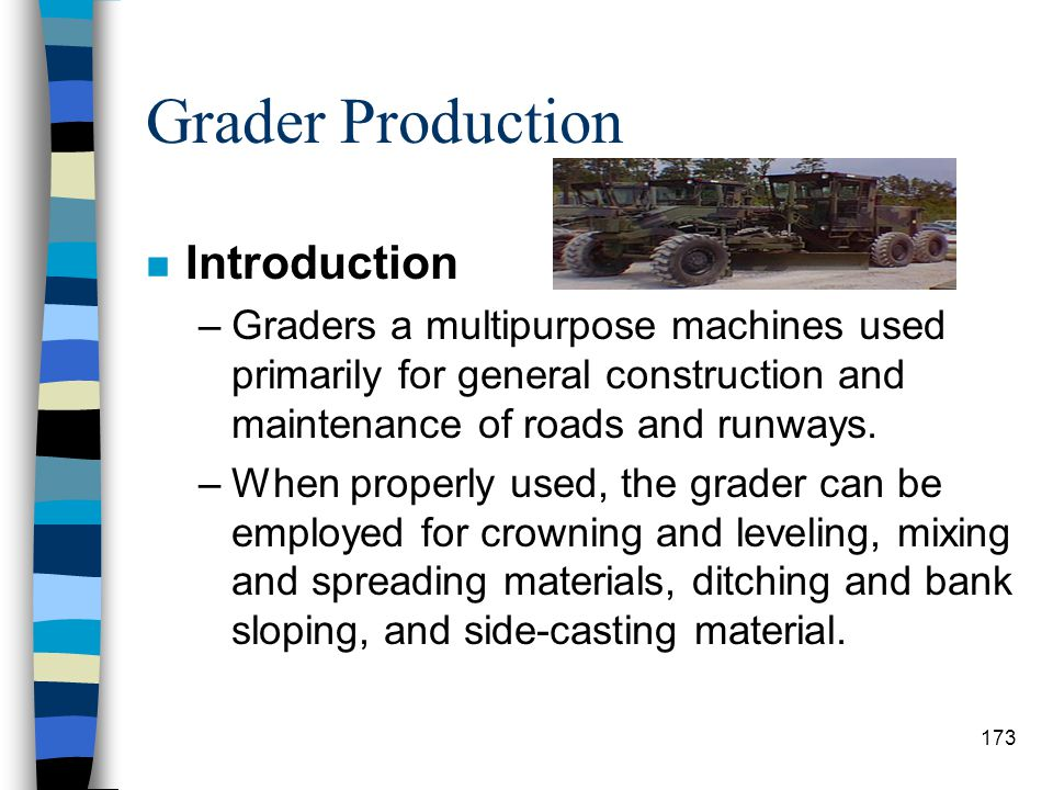 Grader Production Introduction