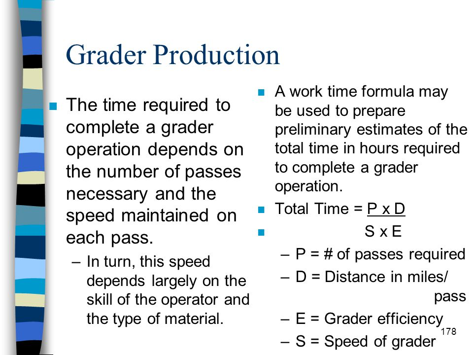 Grader Production