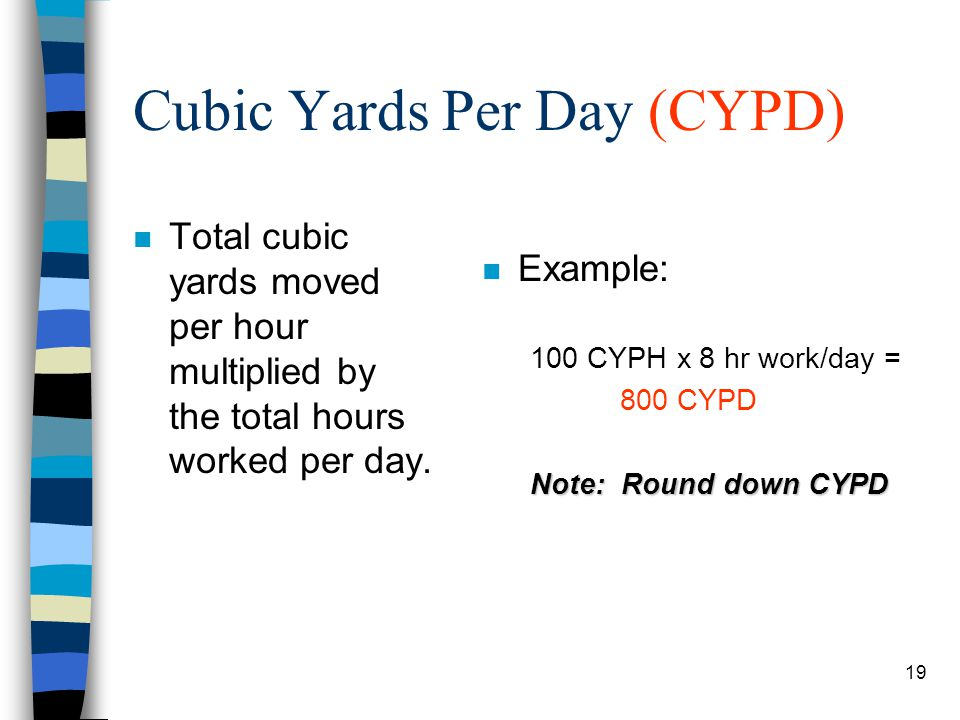 Cubic Yards Per Day (CYPD)