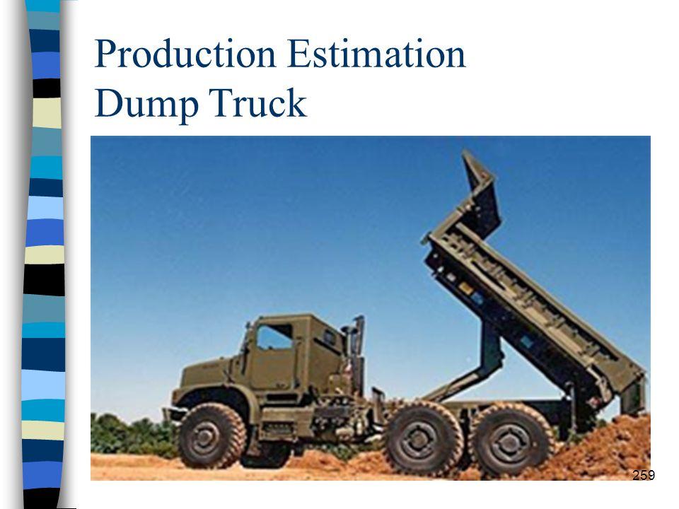 Production Estimation Dump Truck