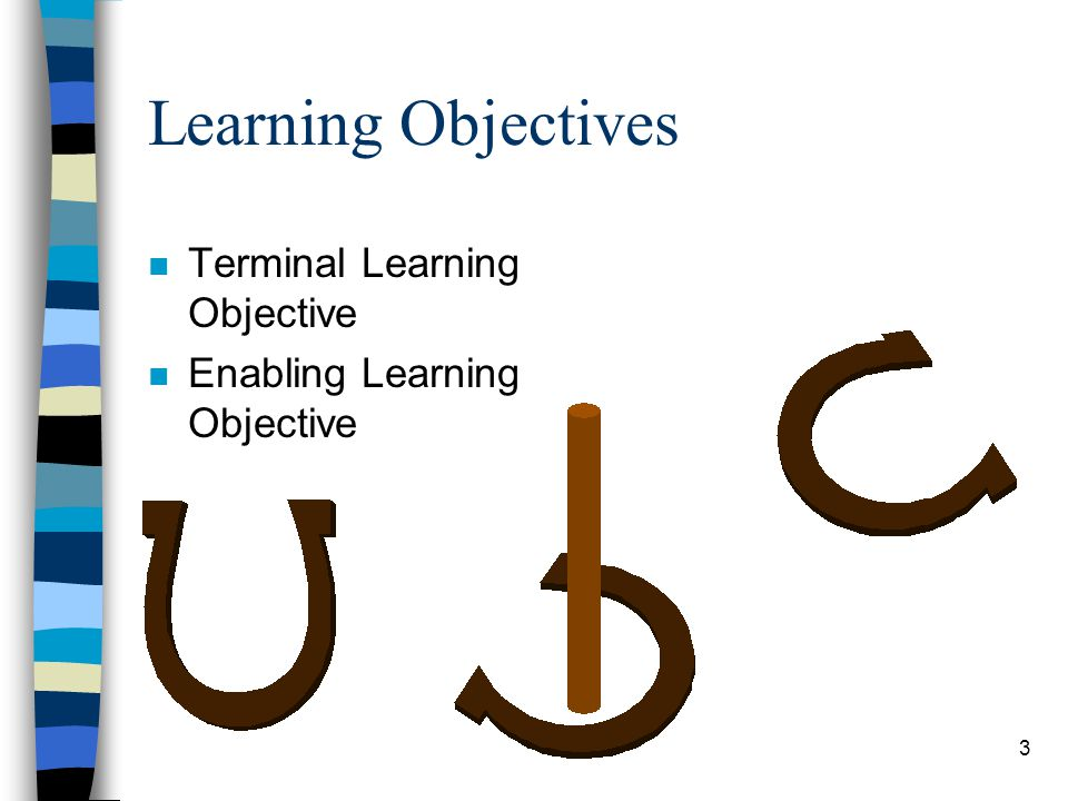 Learning Objectives Terminal Learning Objective