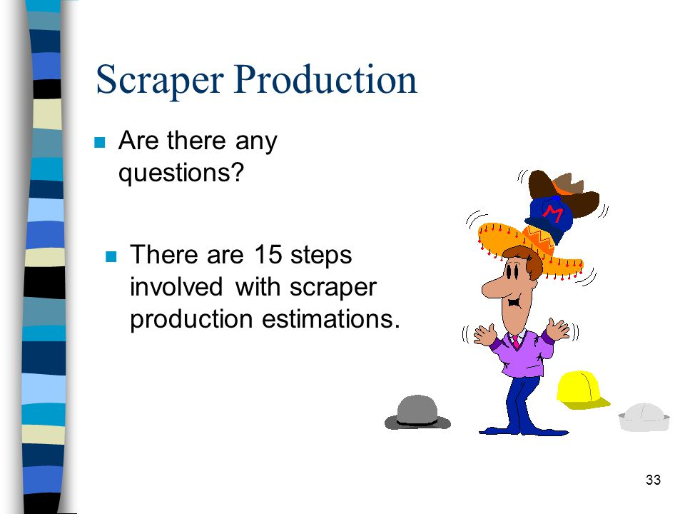 Scraper Production Are there any questions