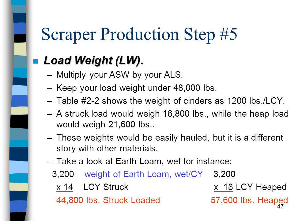 Scraper Production Step #5