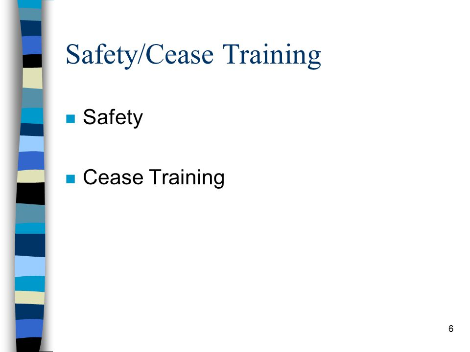Safety/Cease Training