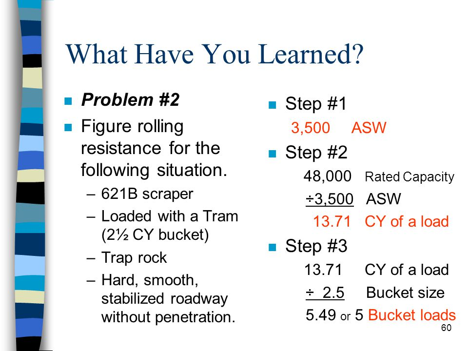 What Have You Learned Problem #2 Step #1