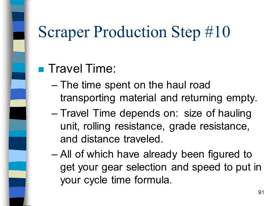 Scraper Production Step #10