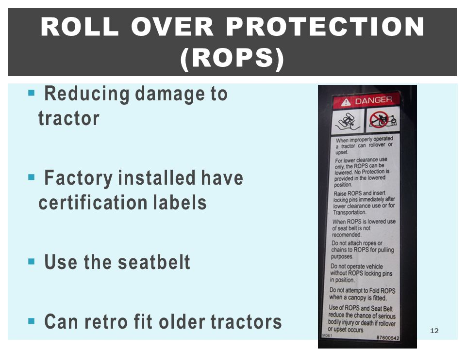 Roll Over Protection (ROPS)