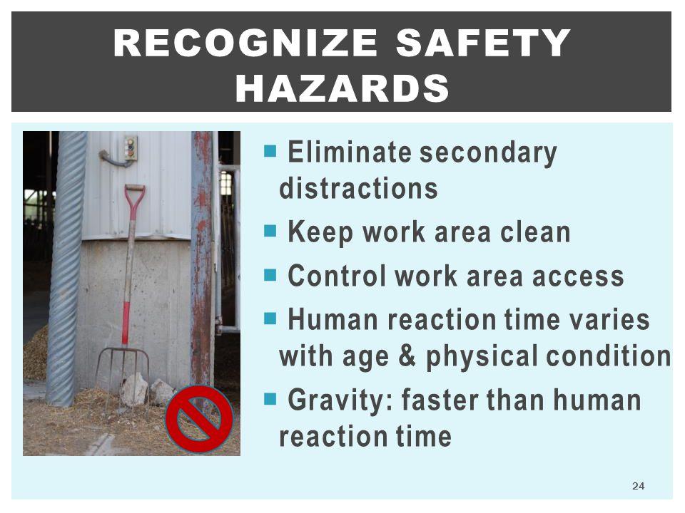 Recognize safety hazards
