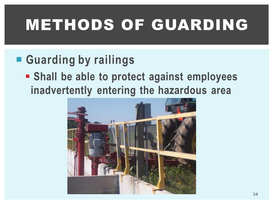 methods of guarding Guarding by railings
