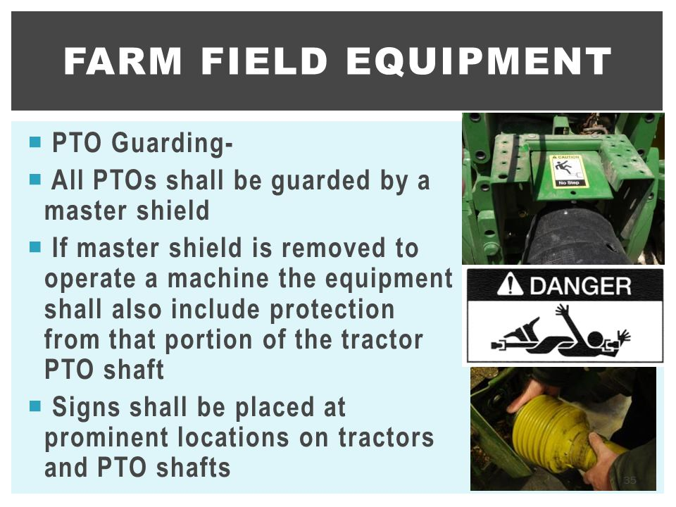 Farm Field Equipment PTO Guarding-