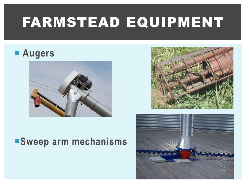 Farmstead equipment Augers Sweep arm mechanisms
