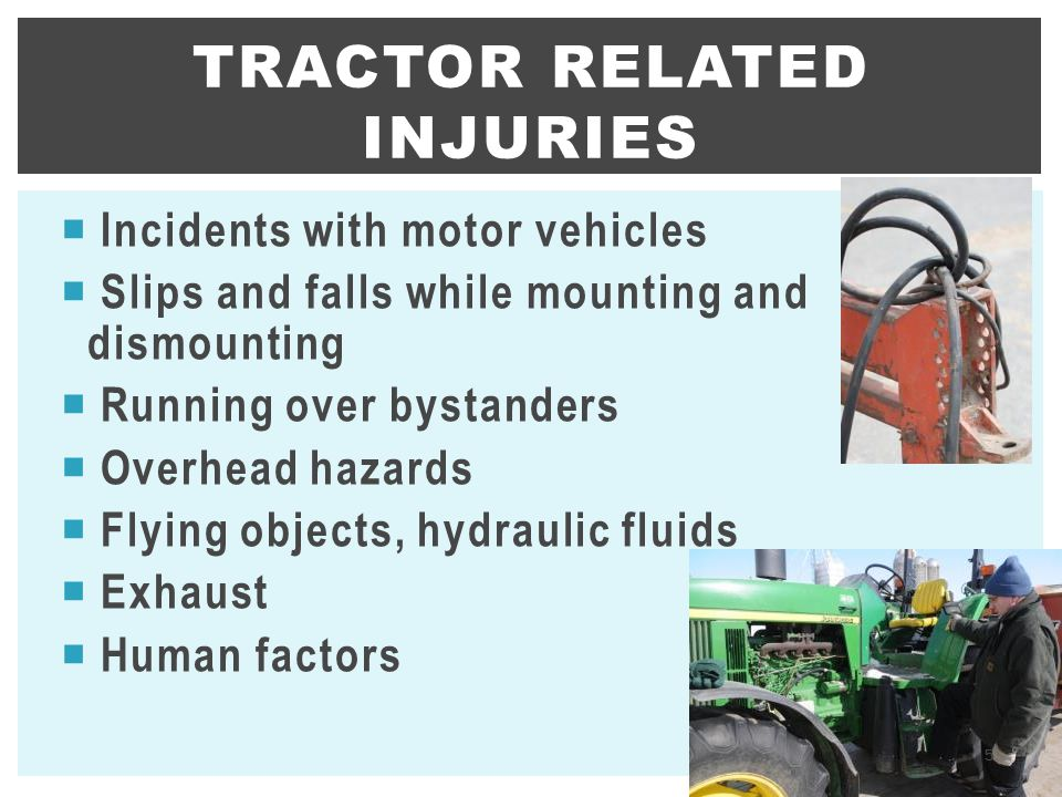 Tractor related injuries