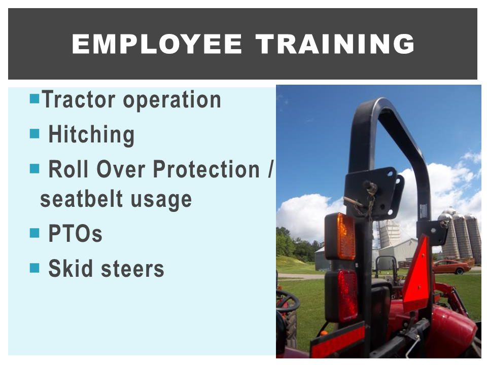 Employee training Tractor operation Hitching