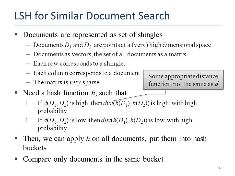 LSH for Similar Document Search