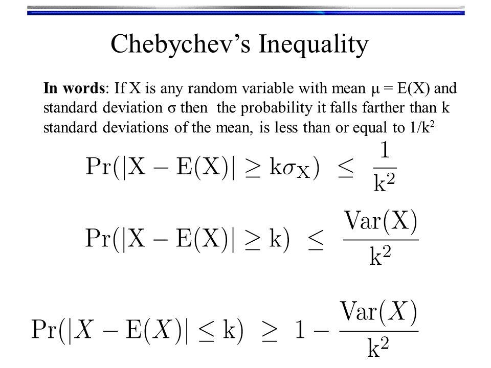 Chebychev's Inequality