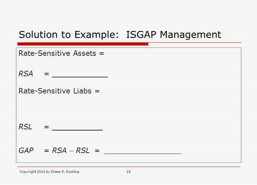 Solution to Example: ISGAP Management