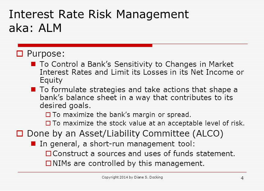 Interest Rate Risk Management aka: ALM