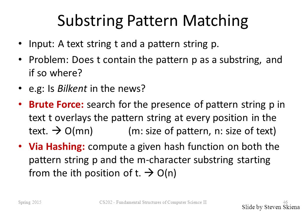 Substring Pattern Matching