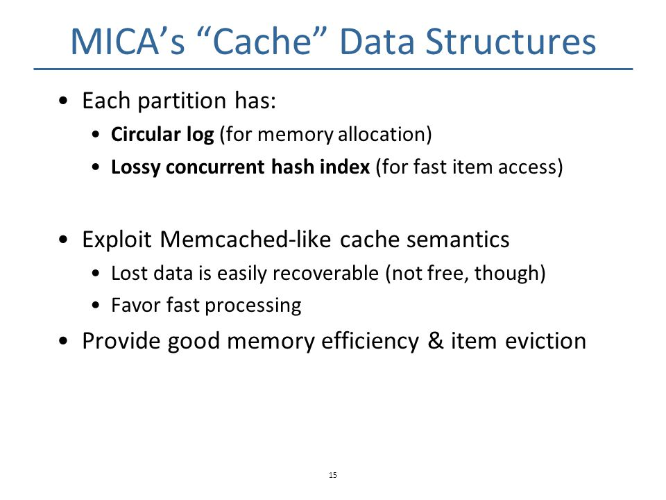 MICA's Cache Data Structures