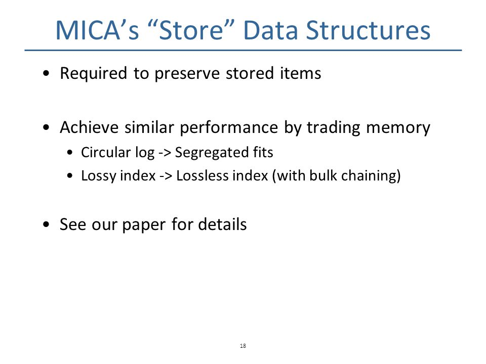 MICA's Store Data Structures