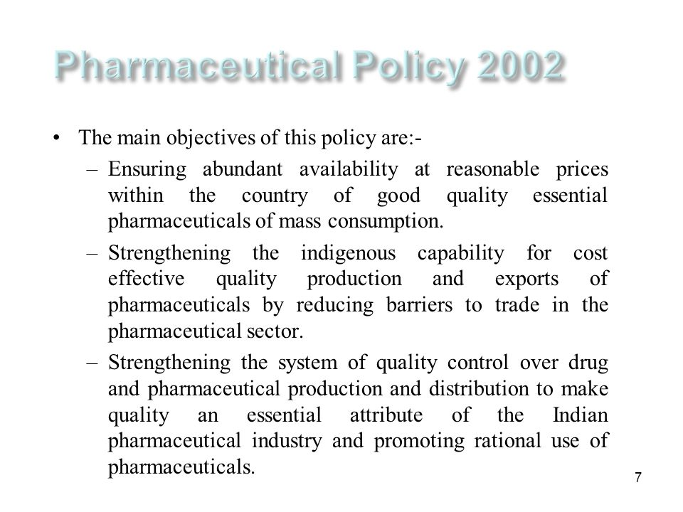 Pharmaceutical Policy 2002