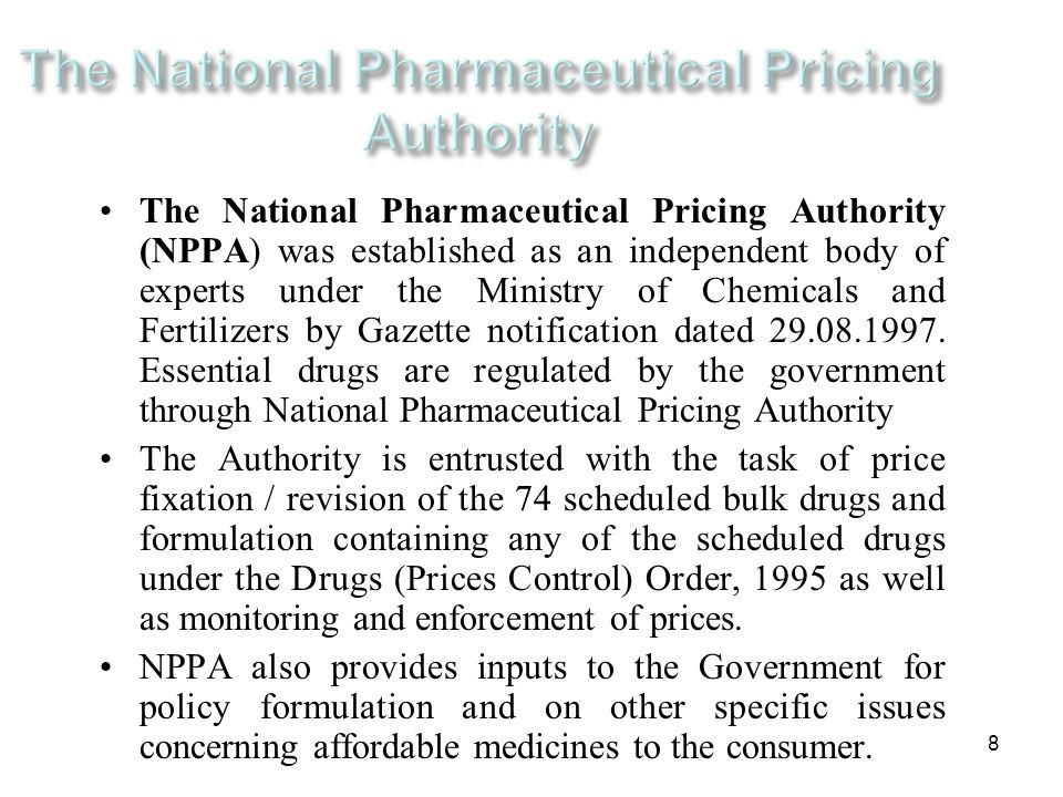 The National Pharmaceutical Pricing Authority