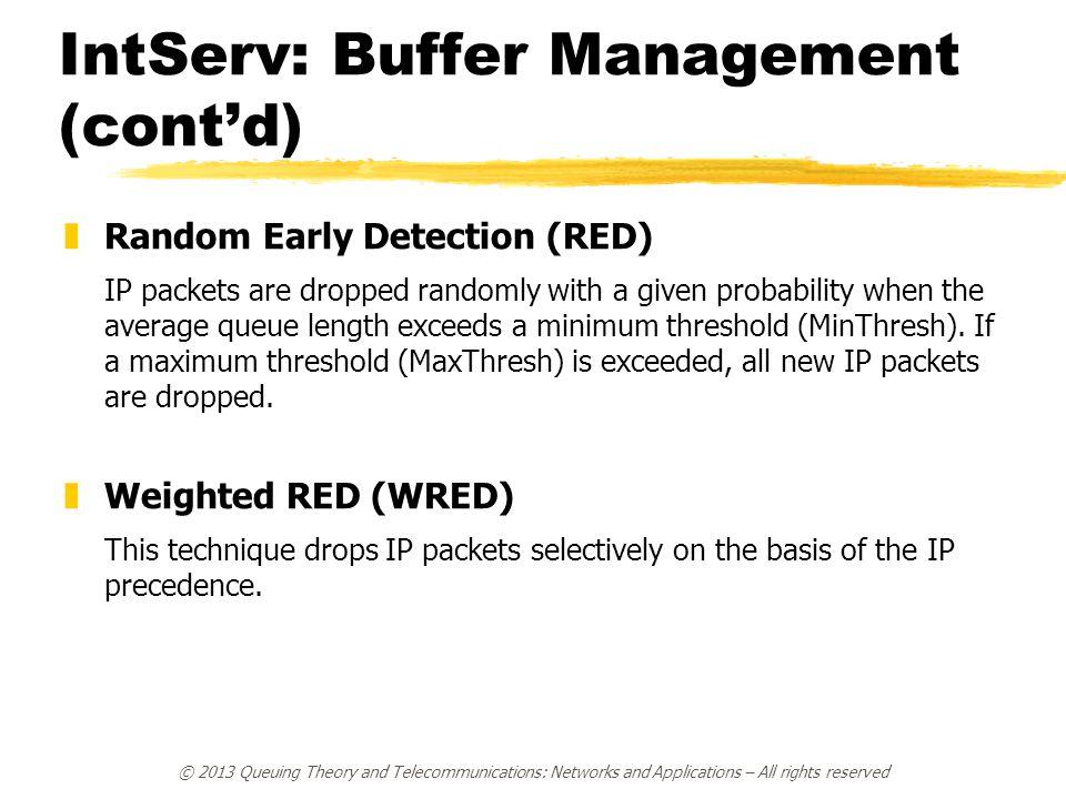 IntServ: Buffer Management (cont'd)