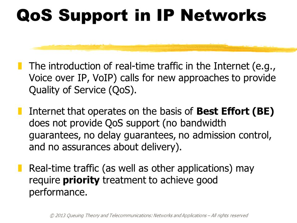 QoS Support in IP Networks