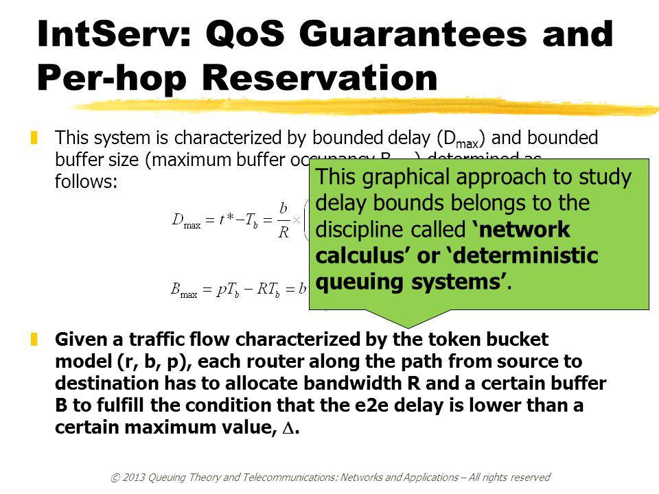 IntServ: QoS Guarantees and Per-hop Reservation