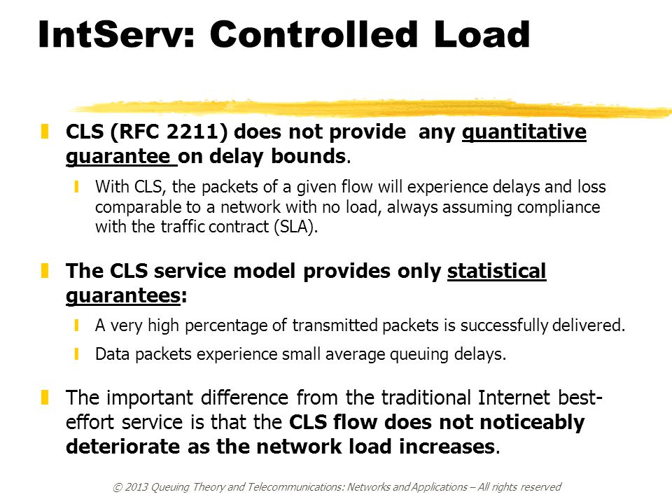 IntServ: Controlled Load