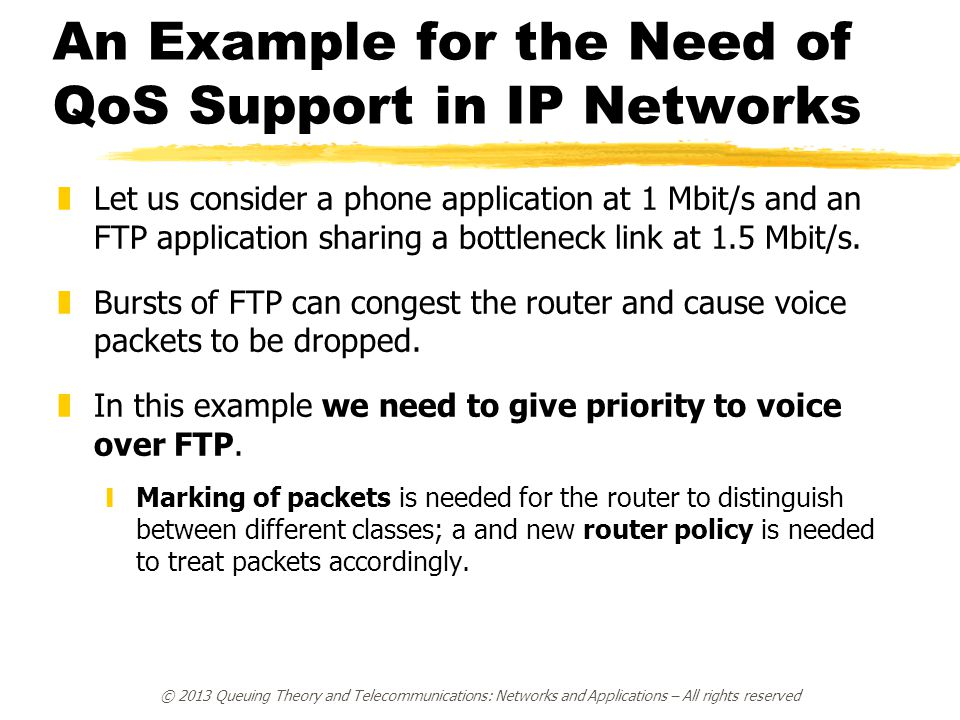 An Example for the Need of QoS Support in IP Networks