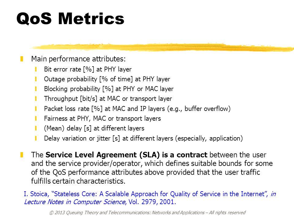 QoS Metrics Main performance attributes: