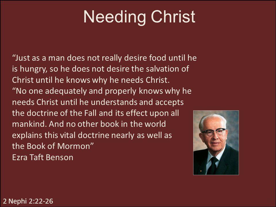 Needing Christ