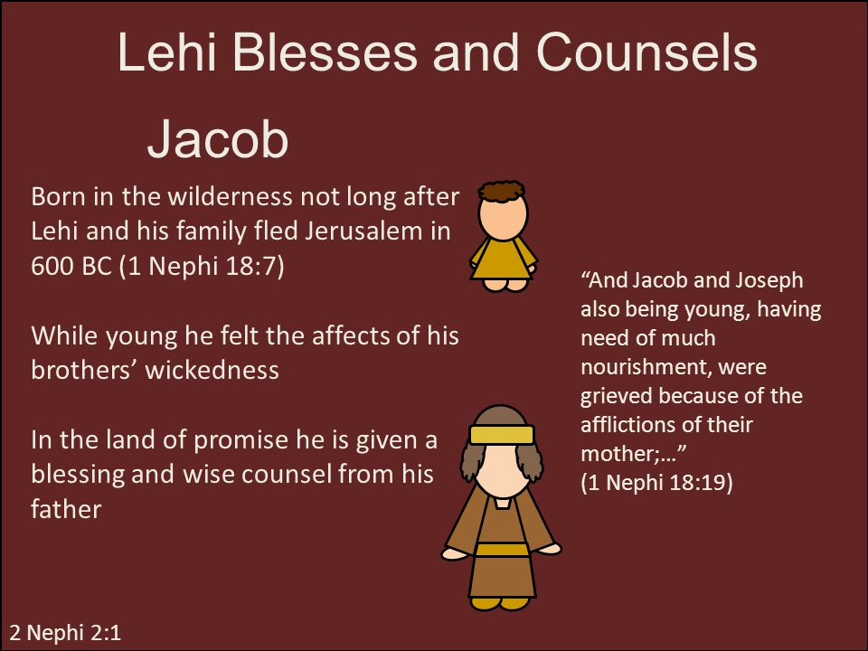 Lehi Blesses and Counsels