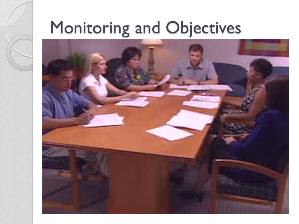 Monitoring and Objectives